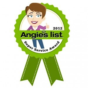 Angie's List Super Service Award Winner 2012 Parker and Sons Plumbing